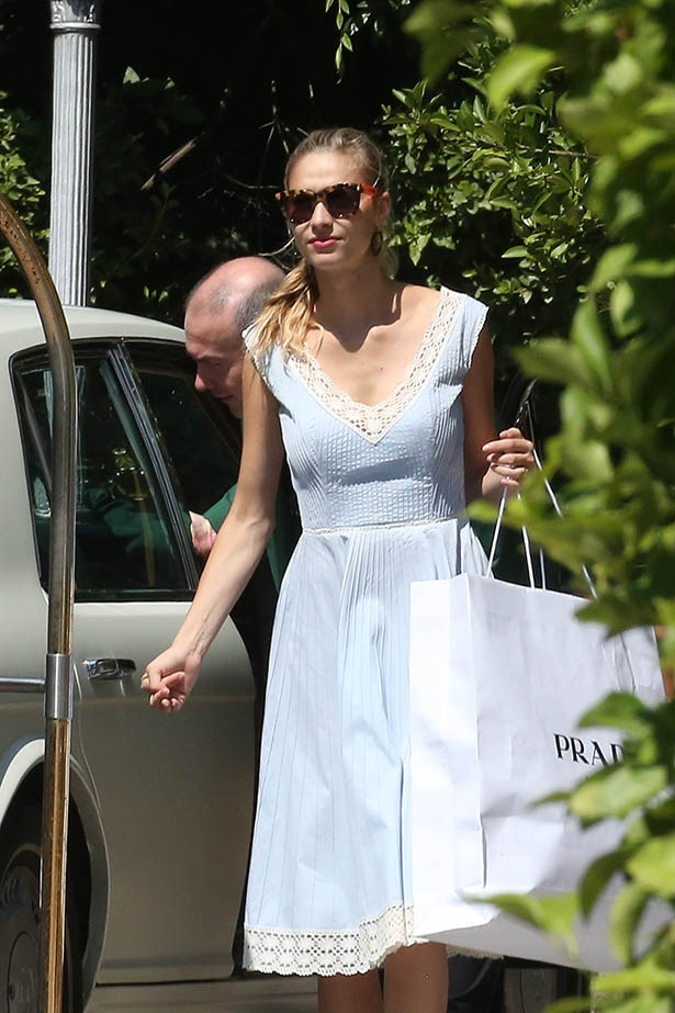 Beatrice Borromeo leaves the hotel Borromeo after her wedding weekend on August 3, 2015 in Stresa, Italy. (Photo by Robino Salvatore/GC Images)