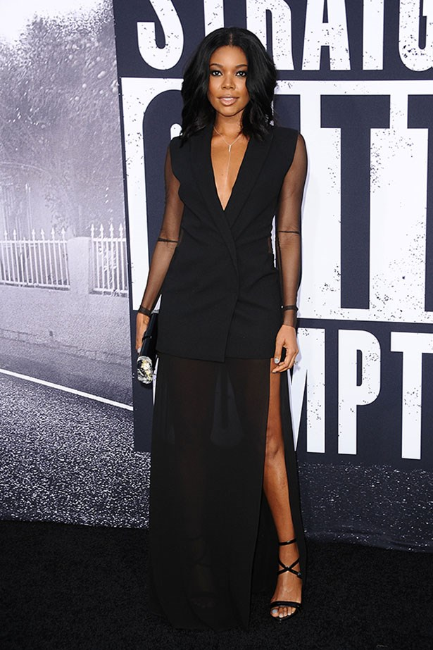 Gabrielle Union's dress is total business at the front ...