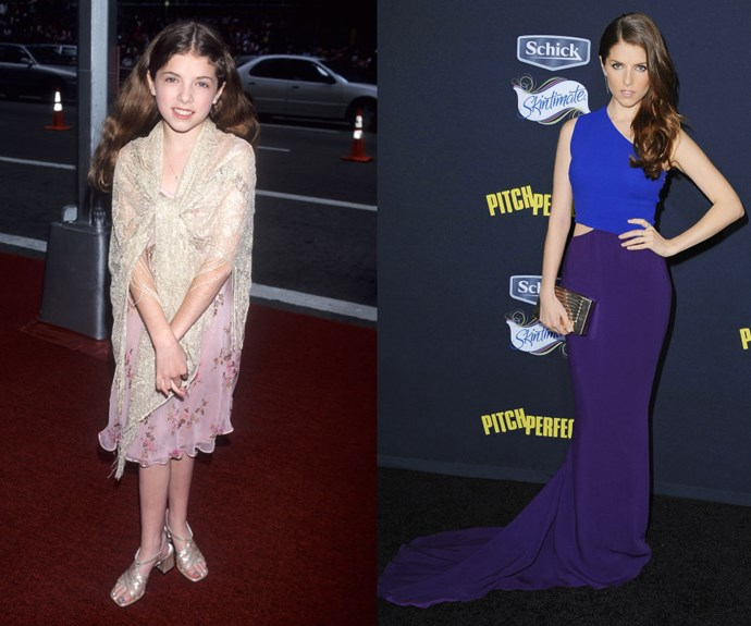 ANNA KENDRICK Then: </em>At the 52nd Annual Tony Awards in 1998</p> <p><em>Now: </em>At the <em>Pitch Perfect 2</em> premiere </p>