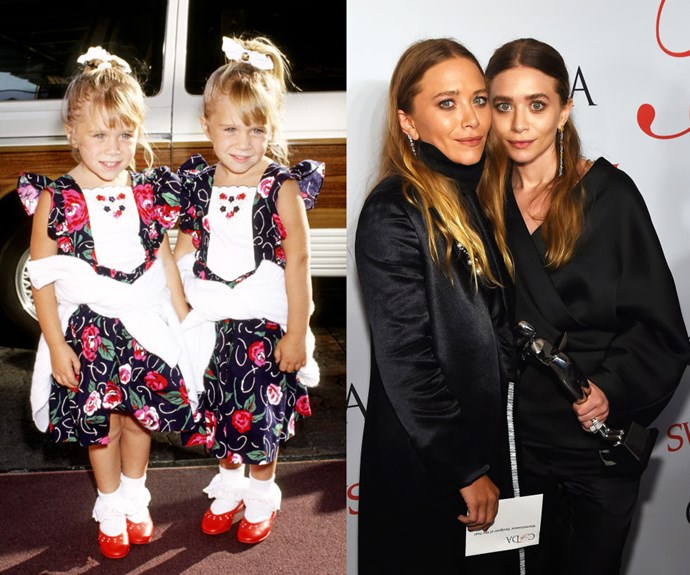 MARY-KATE AND ASHLEY OLSEN <em>Then:</em> At the ABC Summer Press Tour in 1991</p> <p><em>Now:</em> At the 2015 CFDA Fashion Awards</p>