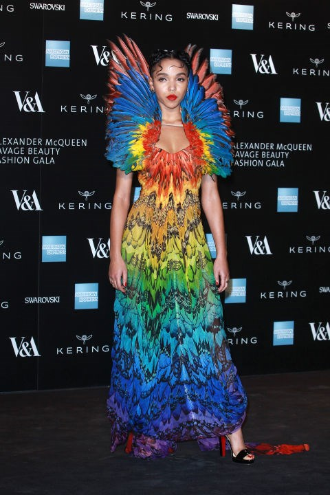 <strong>MARCH 12, 2015</strong> <BR> Wearing Alexander McQueen at a private viewing for the 'Alexander McQueen: Savage Beauty' exhibition.