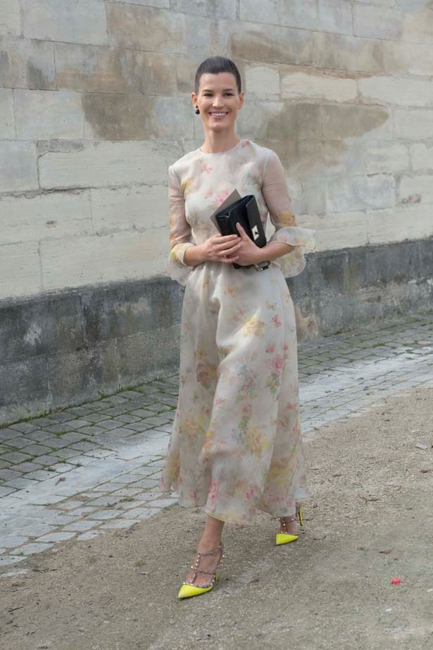 Hanneli looks like a Valentino dream attending Paris Fashion Week in 2010.