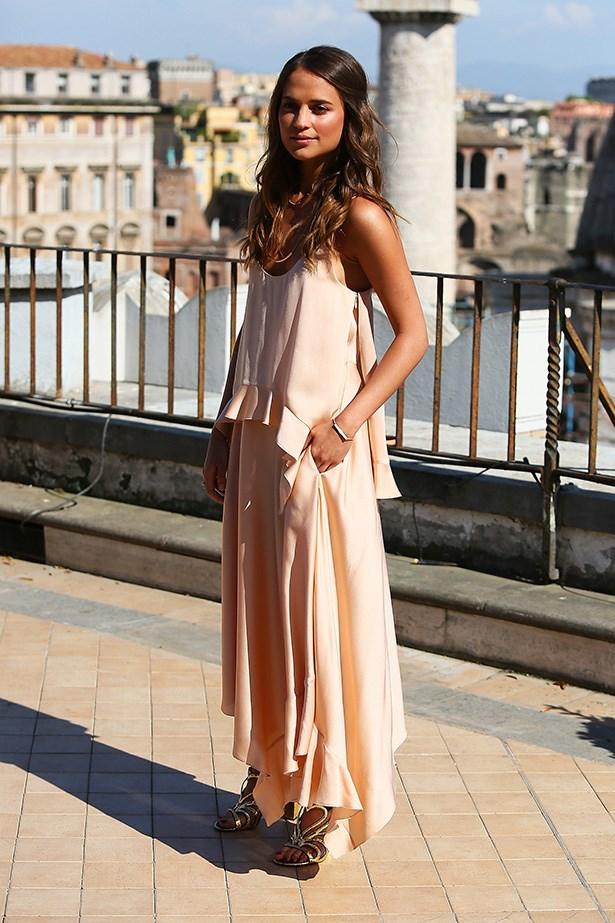 Swedish actress Alicia Vikander.