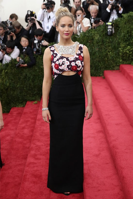Jennifer Lawrence at the Met Gala this year.