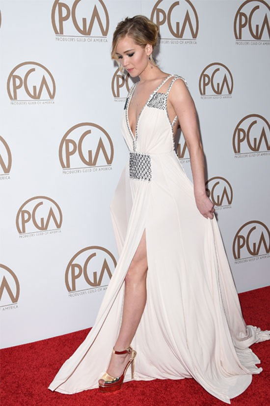 Jennifer Lawrence at the 2015 Producers Guild of America Awards, January.
