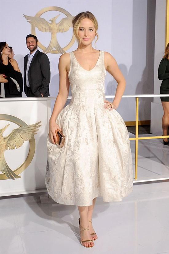 Jennifer Lawrence at the premiere of <em>The Hunger Games: Mockingjay Part 1</em>, November 2014.