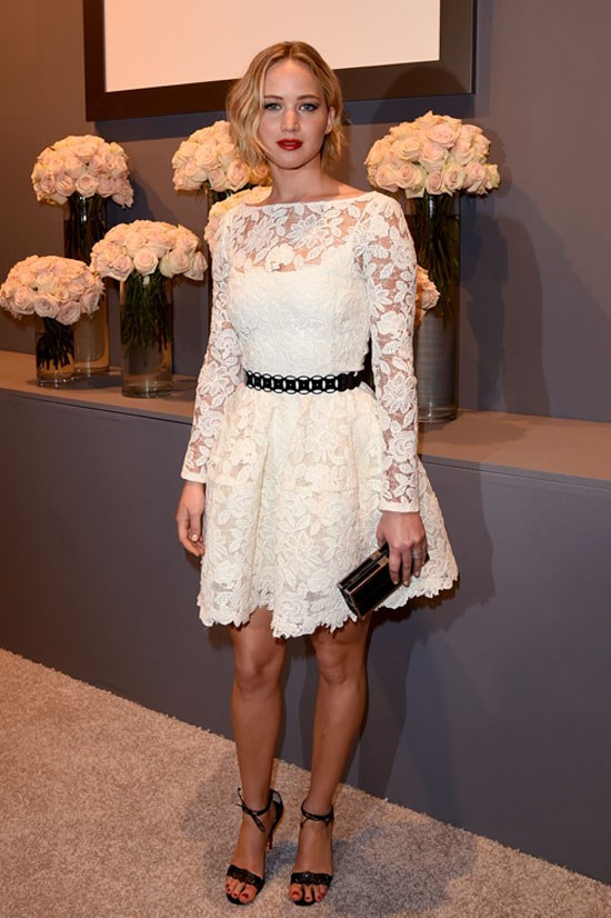 Jennifer Lawrence at ELLE's 21st Annual Women in Hollywood event, October 2014.