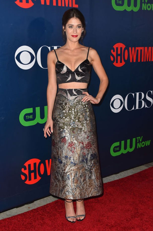 <p><strong>Who:</strong> Lizzy Caplan</p> <p><strong>When:</strong> August 10, 2015</p> <p><strong>Why: </strong>Wearing a matching set from the Valentino Resort 2016 collection, Lizzy Caplan makes a case in favor of the fancy crop top. She accessorizes the beautifully embroidered outfit perfectly for the red carpet with diamonds and metallic heels.</p>