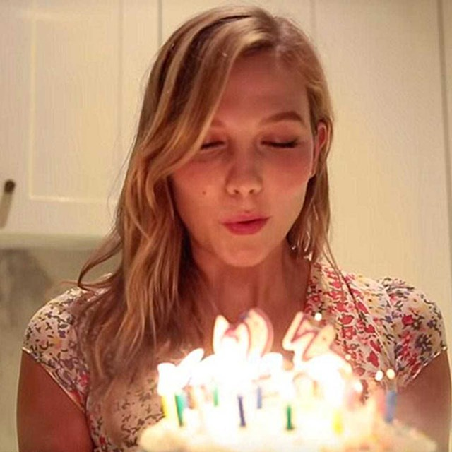 Karlie Kloss makes a wish for her 23rd year.