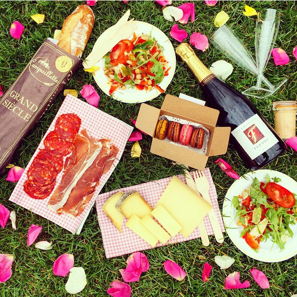 <p><strong>13. A miscellaneous smorgasbord</strong></p> <p>By miscellaneous we mean casually scattering rose petals around macaroons and cheeses so your photo looks spontaneous and fun. But seriously, the internet loves smorgasbords of any variety.</p> <p>Image: @tuulavintage</p>