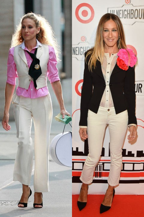 FEMININE SUIT TWINS GETTY