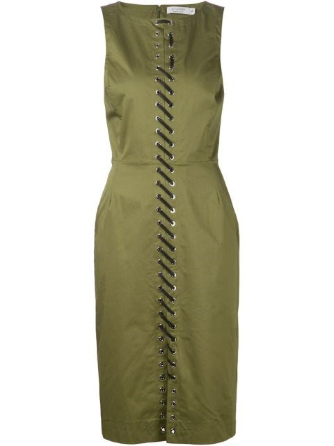 Altuzarra Lace-Up Front Fitted Dress, $1,395;farfetch.com
