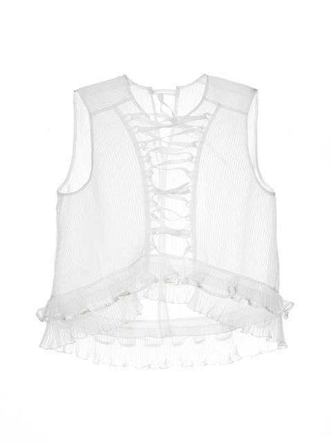 Isabel Marant Vienna Lace-Front Silk Top, $725;matchesfashion.com