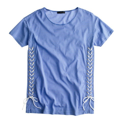 J. Crew Lace-Up Tunic Tee, $40; jcrew.com