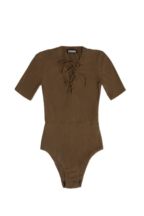 Reformation Serena Bodysuit, $78;thereformation.com