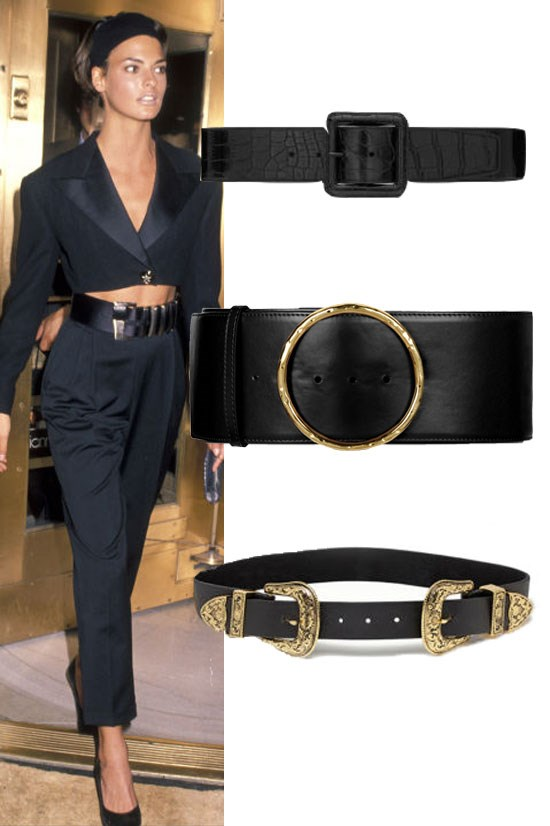 "<strong>A BLACK STATEMENT WAIST BELT</strong> <BR> <BR> Carrée Covered Belt, Saint Laurent, US$450, <a href=""http://www.ysl.com/au/shop-product/women/belts-wide-belts-carree-saint-laurent-covered-buckle-belt-in-black-crocodile-embossed-leather-and-shiny-black-metal_cod46412257cg.html#dept=belts_women_"">ysl.com</a> <BR> <BR> Shiny Alter Nappa Waist Belt, Stella McCartney, US$392, <a href=""http://www.stellamccartney.com/au/stella-mccartney/belt_cod22000556un.html"">stellamccartney.com</a> <BR> <BR> The Bri Bri, B-Low The Belt, US$148, <a href=""http://www.b-lowthebelt.com/product/the-bri-bri"">b-lowthebelt.com</a>"