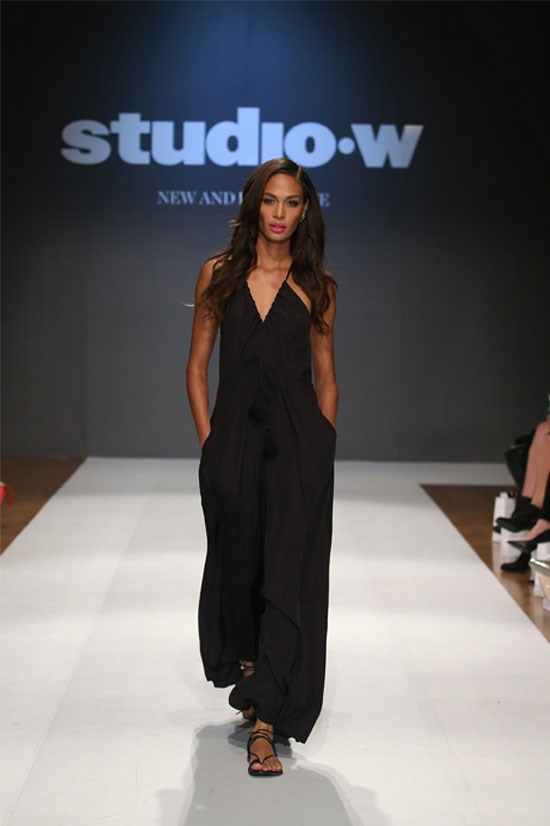 Joan Smalls on the runway for the Studio W Launch at David Jones, Sydney.