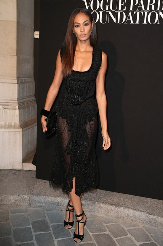 Joan Smalls at the Vogue Paris Foundation, July 2015.