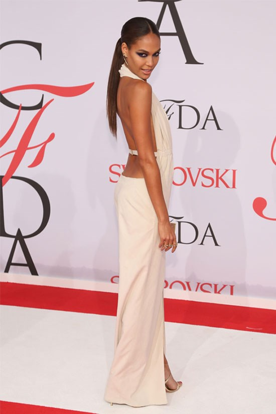 Joan Smalls at the CFDA Fashion Awards, June 2015.