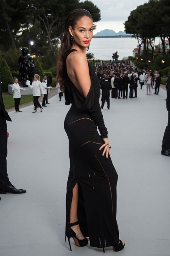 Joan Smalls at the amfAR Gala this year, May 2015.