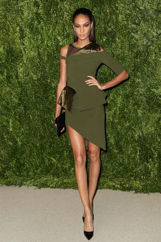 Joan Smalls at the CFDA and Vogue 2013 Fashion Fund Finalists Celebration, November 2013.