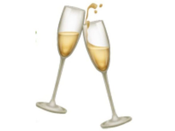 Interchangable with prosecco. This NEEDS to be on the emoji keyboard so badly.