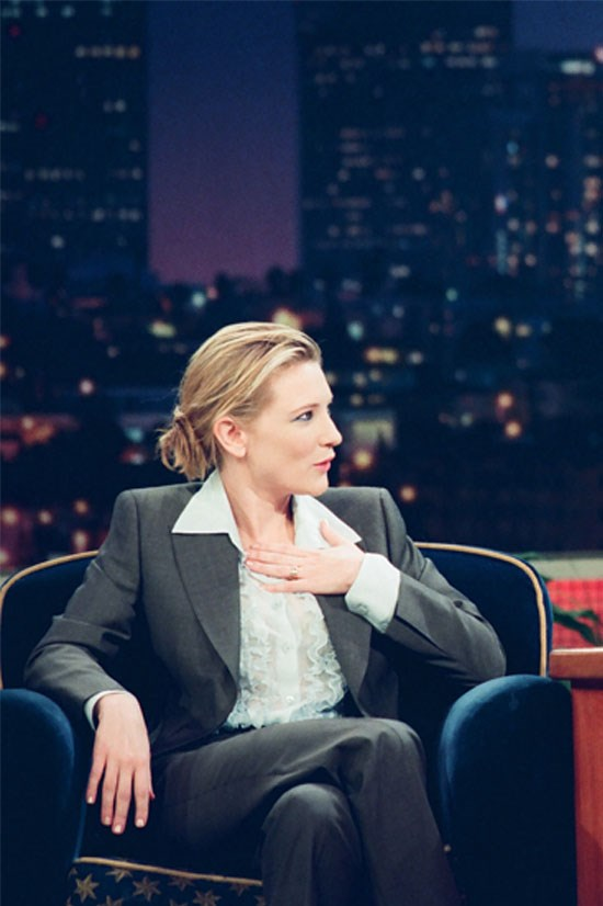 <strong>Cate Blanchett</strong> on <em>The Tonight Show</em> with Jay Leno in 1999.