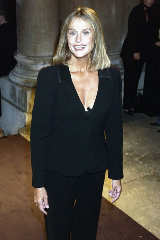 <strong>Lauren Hutton</strong> at the Exhibition of Giorgio Armani: A Retrospective in 2003.