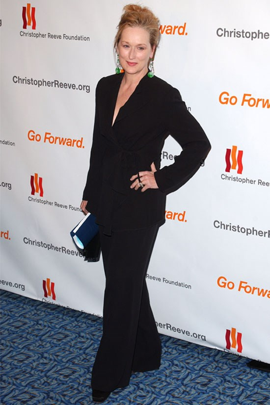 <strong>Meryl Streep</strong> attends an event for the Christopher Reeves Foundation in 2005.