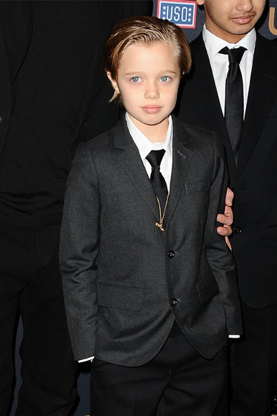 <strong>Shiloh Jolie-Pitt</strong> takes after her mother, wearing a suit to the premiere of <em>Unbroken</em>.