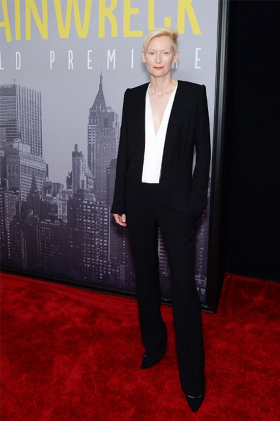 <strong>Tilda Swinton</strong> at the premiere of <em>Trainwreck </em>in New York in 2015.