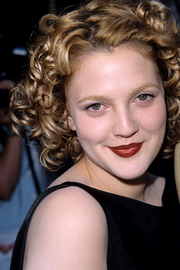 Basically if you google winning the 90s it should just show Drew Barrymore. With brown lipstick. And a flower in her hair.