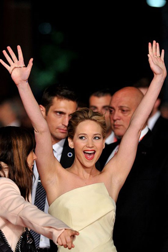 <strong>1. Jennifer Lawrence</strong> earned US$52 million in the last year. We would be cheerin too.