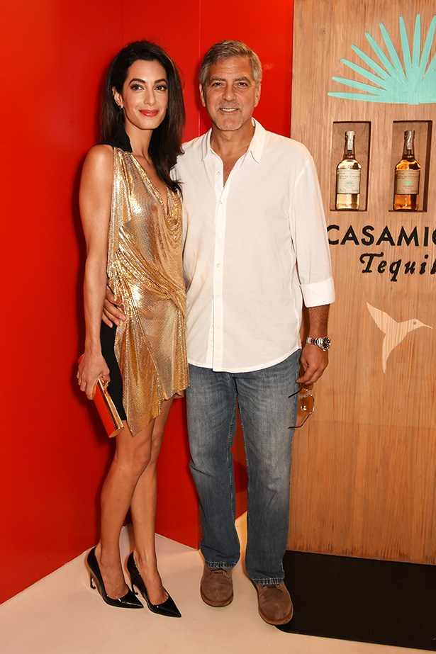 Amal Clooney is TOTALLY bringing back the going out dress. You know, the slinky, sequin-y numbers you'd slip on for a night out dancing? This dress is made for dancing - it's gold for one and it shimmers when you move - and there should be more dancing dresses out there, in our opinion. Especially when one is at a party for tequila in Ibiza, no?