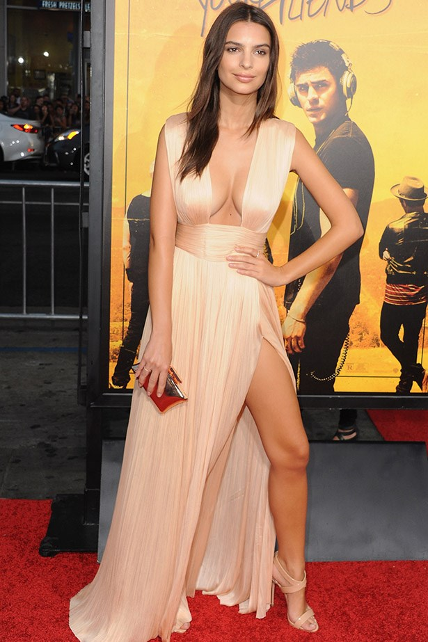 Emily Ratajkowski pulled an Angelina at the premiere of We Are Your Friends.