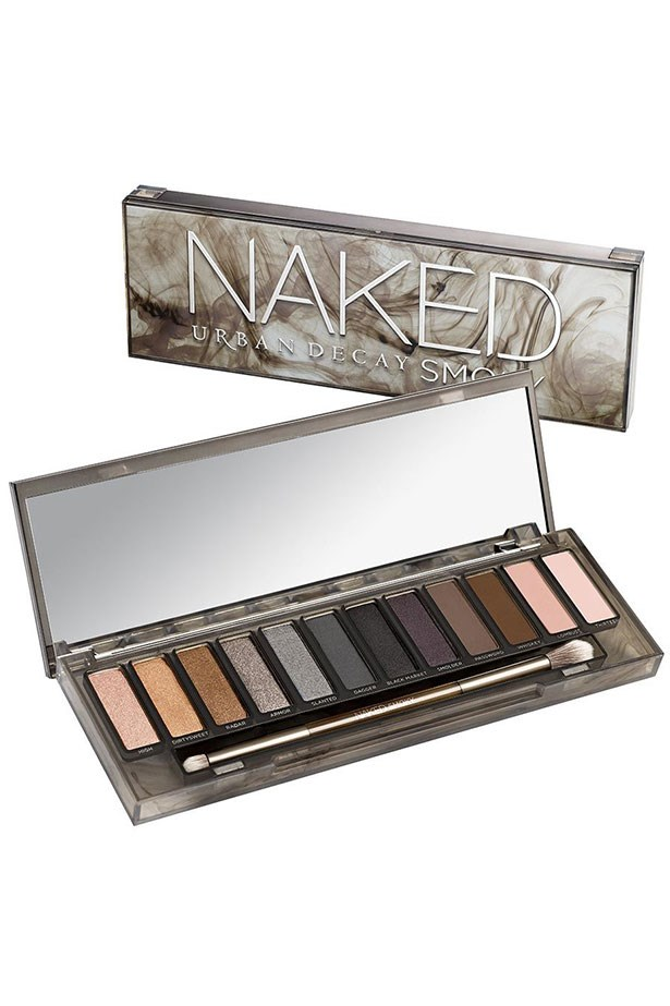 """Best for...Smokey Eyes <br> <br> The latest <em>Naked </em>palette from <em>Urban Decay</em> already <a href=""""http://www.elle.com.au/news/beauty-news/2015/1/urban-decay-to-launch-exclusively-at-mecca-maxima/"""">screams cult-status</a> just like it's three big sisters did beforehand. Upgrade your smokey skills with this line-up of super pigmented and crazy-smooth shades that even a novice can blend from cocktail-hour definition to a dramatic, black-tie eye in a cinch. <Br> <br> <a href=""""http://mecca.com.au/urban-decay/naked-smoky-eyeshadow-palette/I-022211.html#start=1"""">Naked Smoky Eyeshadow Palette, Urban Decay</a>"""