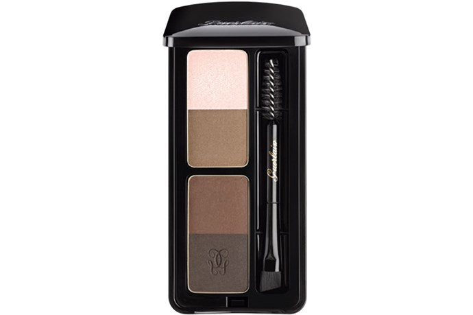 """<strong>Best for...Brows on Fleek</strong> <br> <br> The three on-point brown shades (not too warm, not too ashy, just right) can be blended for a bespoke brown hue that's just right for you. Plus the pale pink works as a highlighter, or run it below your brow for a clean and polished finish. <br> <br> <em><a href=""""http://shop.davidjones.com.au/djs/ProductDisplay?catalogId=10051&productId=3572508&langId=-1&storeId=10051&cm_mmc=googlesem-_-PLA-_-Health+and+Beauty+-+Personal+Care-_-Guerlain+Eyebrow+Kit+Universal&CAWELAID=620017140001415418&CAGPSPN=pla&gclid=CjwKEAjwpPCuBRDris2Y7piU2QsSJAD1Qv7BUTt-vyhk9KUn2kYKzb3fkdR1T4VProBWOeEoAWVOLBoC_LXw_wcB&gclsrc=aw.ds"""">Eyebrow Kit Universal, Guerlain </a> </em>"""