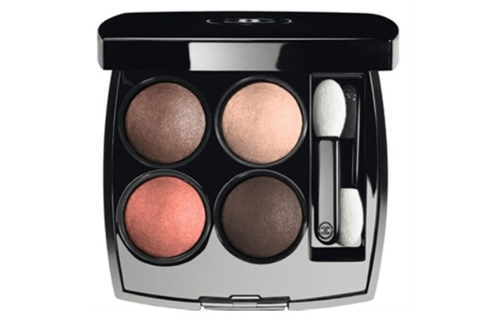 """<strong>Best for...Blue eyes</strong> <br> <br> Warm tones bounce off blue eyes beautifully and this quad of shimmering apricot-based neutrals is a winner. <br> <br> <em><a href=""""http://shop.davidjones.com.au/djs/en/davidjones/les-4-ombres-multi-effect-quadra-eyeshadow-2882-91304--1"""">Les 4 Ombres in Tisse Vendome, Chanel </a></em>"""