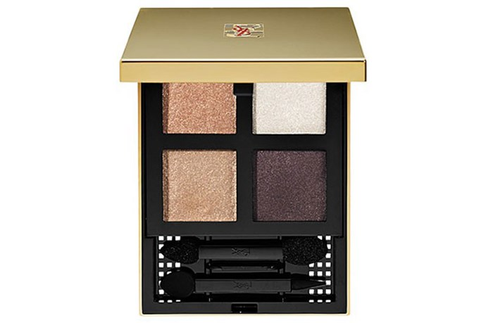 """<strong>Best for...Brown eyes</strong> <br> <br> Brown eyed girls can go any which way when it comes to shadows, but golds bring them out them best. The shadows in this palette boast an almost cream-to-shadow formula so smooth, you can work them into your lids with fingers alone. <br> <br> <a href=""""http://shop.davidjones.com.au/djs/en/davidjones/pure-chromatics""""><em>Pure Chromatics in 20, YSL</em></a>"""