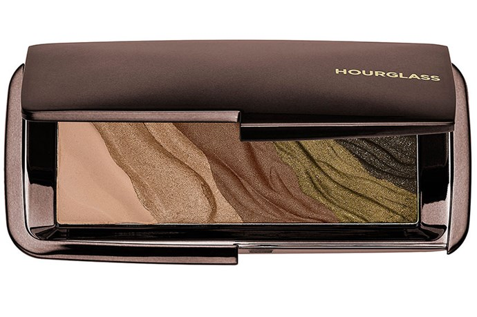 """<strong>Best for...Hazel eyes </strong> <br> <br> Reach for rich, autumn tones like soft golds and ethereal greens that bring out the warm flecks in hazel eyes. <br> <br> <em><a href=""""http://mecca.com.au/hourglass/modernist-eyeshadow-palette/V-018962.html#q=eye+palette&start=1"""">Modernist Eyeshadow Palette in Gold Fields, Hourglass</a></em>"""