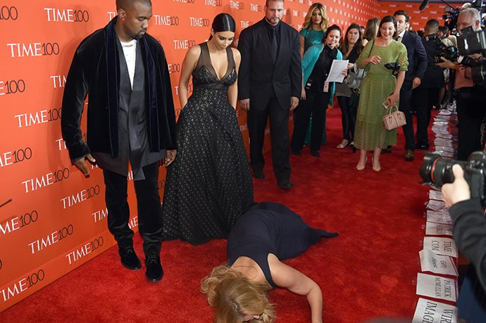 It's pretty hard to top Amy Schumer's EPIC photobomb/fall in front of Kanye and Kim, who were, ummm, pretty unimpressed by the whole thing. 5 stars would watch again.