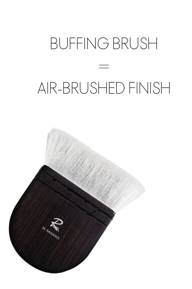 "<strong>Buffing Brush </strong> <br> <br> <em>Best for: Creating an air-brushed finish</em> <br> <br> For an airbrushed, perfected complexion you can't go past a buffing brush. These have super soft (often pony hair) densely-packed bristles that do all the tough, blending work for you. Working in circular motions pushes the product slowly and evenly into the skin, so you're left with a medium level of coverage that gives off a beautiful glow. <br> <br> <strong>Try:</strong> <a href=""http://raemorris.com/collections/brushes/products/brush-26-radiance"">Brush 26, Rae Morris</a>"