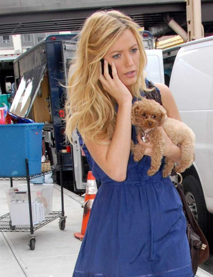 Blake Lively and her pooch Penny.