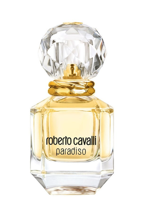 """<a href=""""http://www.myer.com.au/shop/mystore/roberto-cavalli-paradiso--edp"""">Paradiso by Roberto Cavalli <br><br></a> Inspired by Italian landscapes, this sensuous mix of citrus, jasmine, pink laurel and stone pine will have you dreaming of warm nights and summer cocktails."""
