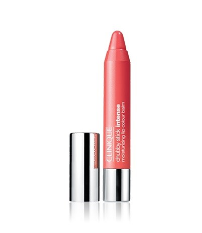 <strong>Swipe and go</strong> <br><br>Clinique Chubby Stick Intense Moisturizing Lip Colour Balm in Heftiest Hibiscus, $35, Clinique, Clinique.com.au