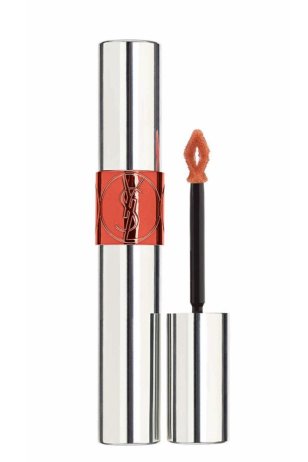 <strong>2-in-1 Colour and Treatment </strong> <br><br>Volupté Tint-in-Oil in Peach Me Love, $49, Yves Saint Laurent, 1300 651 991
