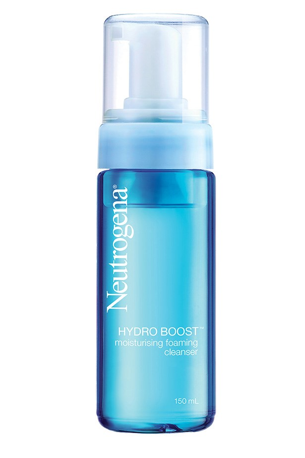 <strong>For dry skin</strong> <br><br>HYDRO BOOST Moisturising Foaming Cleanser, $14.99, Neutrogena, priceline.com.au