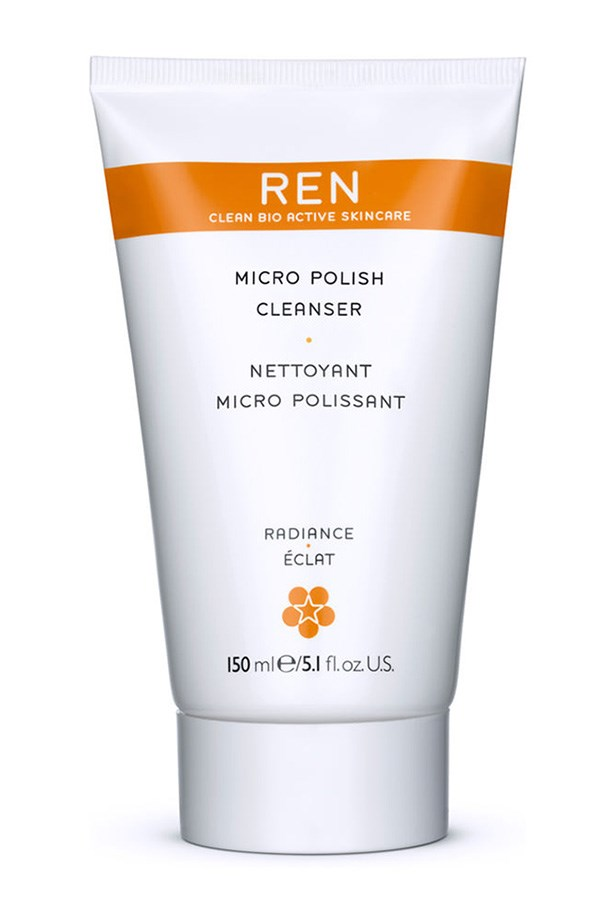 <strong>For an exfoliating, radiance boost</strong> <br><br>Micro Polish Cleanser, $43, Ren, mecca.com.au
