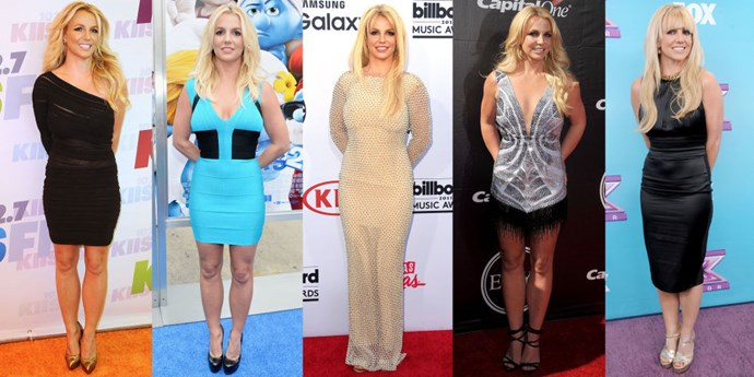 <strong>BRITNEY SPEARS</strong> <BR> The Britney requires feet firmly planted next to each other, arms clasped behind the back, a toothy grin and vacant eyes.