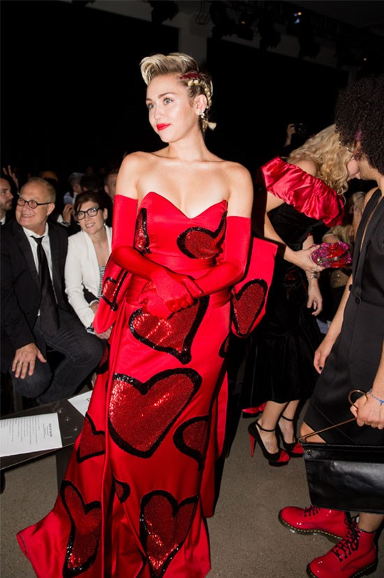 Miley Cyrus at the amfAR Inspiration Gala, June 2015.
